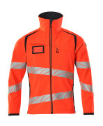 19002-143-22210 Softshell Jacket - hi-vis red/dark navy