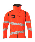 19002-143-22218 Softshell Jacket - hi-vis red/dark anthracite