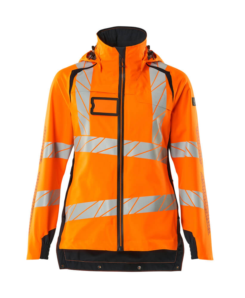 19011-449-14010 Outer Shell Jacket - hi-vis orange/dark navy