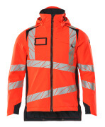 19035-449-22210 Winter Jacket - hi-vis red/dark navy