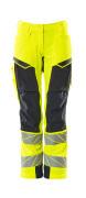 19078-511-14010 Trousers with kneepad pockets - hi-vis orange/dark navy