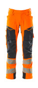19079-511-14010 Trousers with holster pockets - hi-vis orange/dark navy