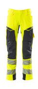 19079-511-14010 Trousers with holster pockets - hi-vis orange/dark navy