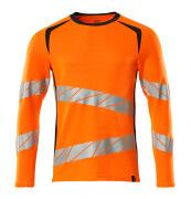 19081-771-14010 T-shirt, long-sleeved - hi-vis orange/dark navy