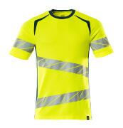 19082-771-1744 T-shirt - hi-vis yellow/dark petroleum