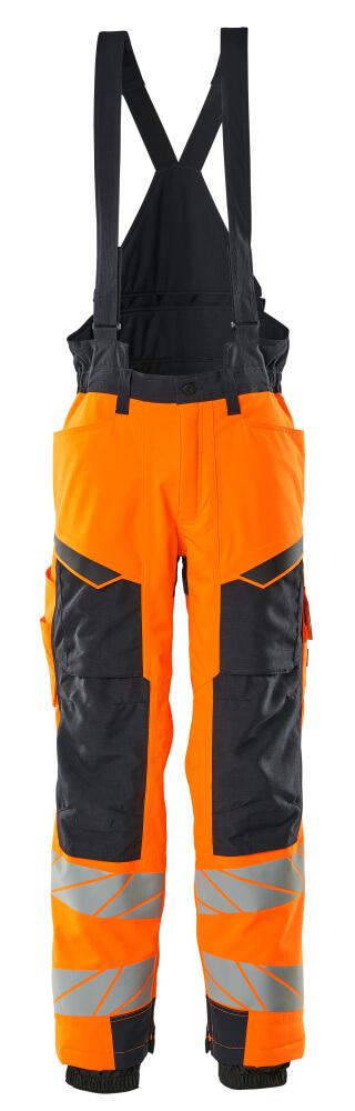 19090-449-14010 Winter Trousers - hi-vis orange/dark navy