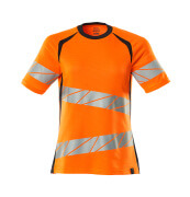 19092-771-14010 T-shirt - hi-vis orange/dark navy