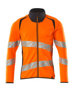 19184-781-14010 Sweatshirt with zipper - hi-vis orange/dark navy