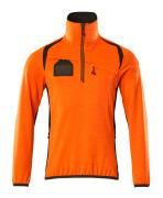19303-316-1418 Fleece Jumper with half zip - hi-vis orange/dark anthracite