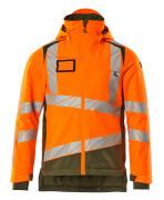 19335-231-1433 Winter Jacket - hi-vis orange/moss green
