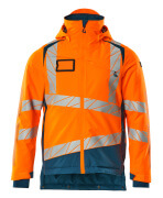 19335-231-1444 Winter Jacket - hi-vis orange/dark petroleum