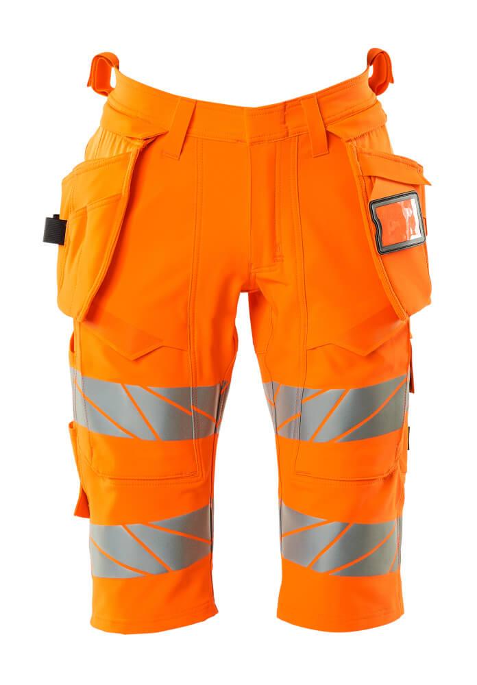 19349-711-14 Shorts, long, with holster pockets - hi-vis orange