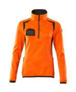 19353-316-1418 Fleece Jumper with half zip - hi-vis orange/dark anthracite