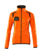 19453-316-1418 Fleece Jumper with zipper - hi-vis orange/dark anthracite