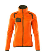 19453-316-1433 Fleece Jumper with zipper - hi-vis orange/moss green