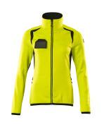 19453-316-1709 Fleece Jumper with zipper - hi-vis yellow/black