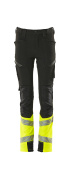 19979-311-0917 Trousers for children - black/hi-vis yellow