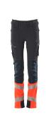 19979-311-10222 Trousers for children - dark navy/hi-vis red