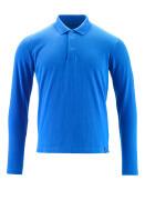 20483-961-91 Polo Shirt, long-sleeved - azure blue
