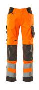 20879-236-1418 Trousers with kneepad pockets - hi-vis orange/dark anthracite