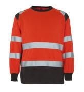 50110-854-A49 Sweatshirt - hi-vis red/dark anthracite