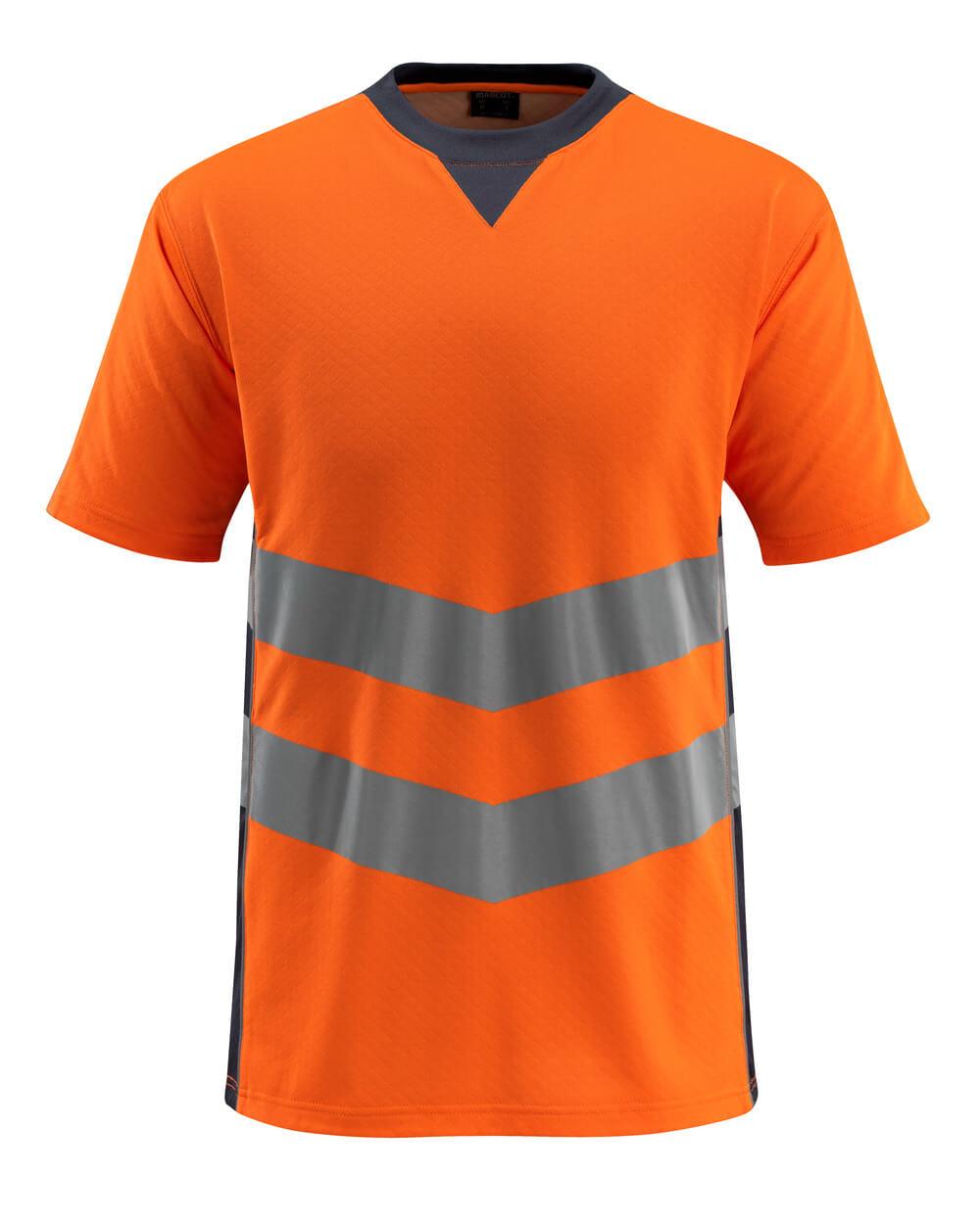 50127-933-14010 T-shirt - hi-vis orange/dark navy