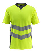 50127-933-17010 T-shirt - hi-vis yellow/dark navy