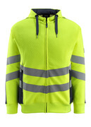 50138-932-17010 Hoodie with zipper - hi-vis yellow/dark navy