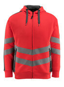 50138-932-14010 Hoodie with zipper - hi-vis orange/dark navy