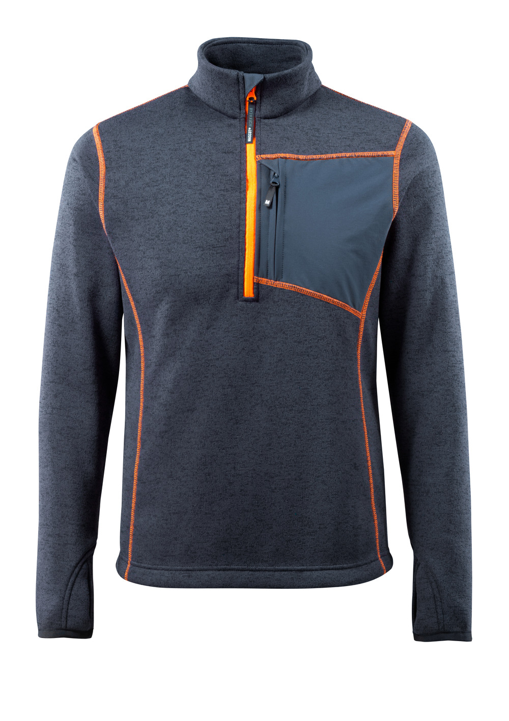 50149-951-010 Knitted Jumper with half zip - dark navy