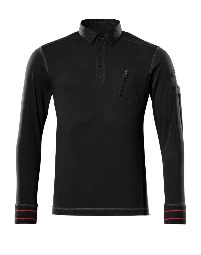 50352-833-09 Polo Sweatshirt - black