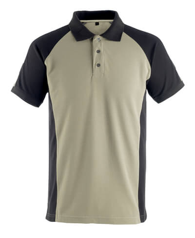 50502-260-5509 Polo Shirt - light khaki/black