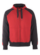 50509-811-0209 Hoodie with zipper - red/black