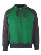 50509-811-0309 Hoodie with zipper - green/black