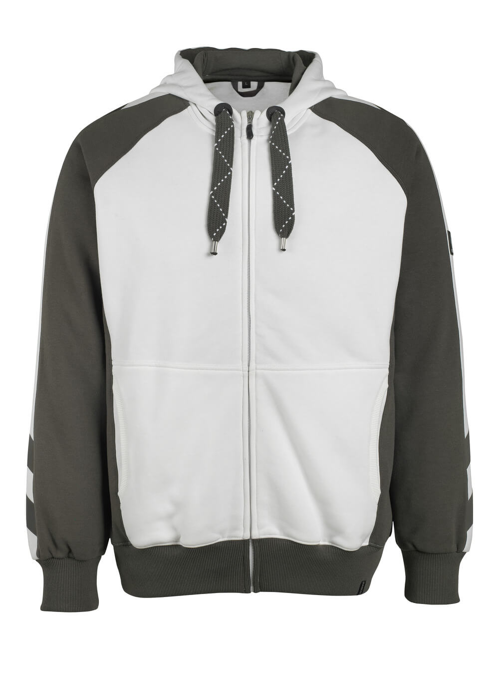 50509-811-0618 Hoodie with zipper - white/dark anthracite