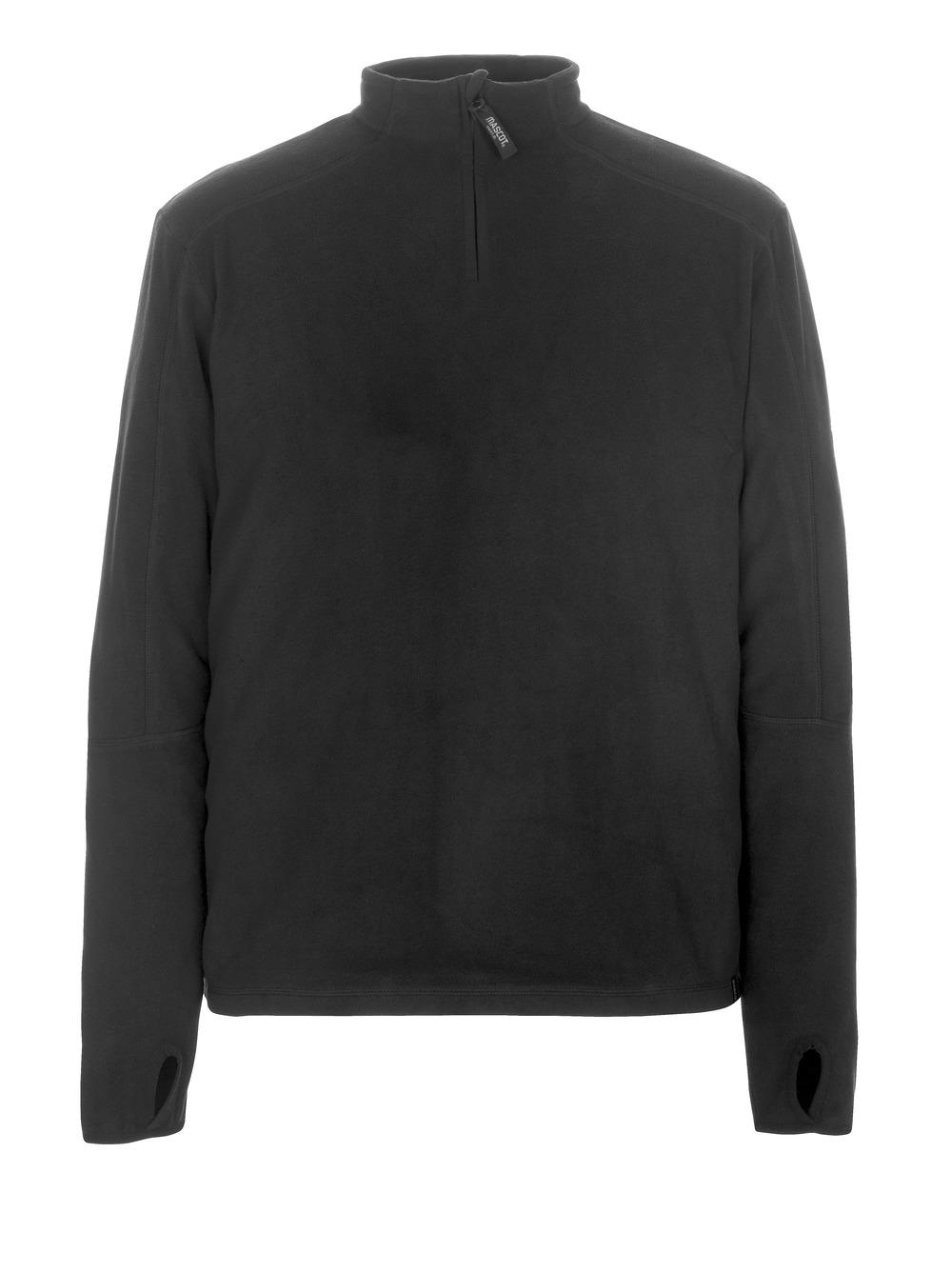 50531-923-09 Fleece Jumper with half zip - black