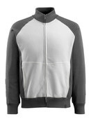50565-963-0618 Sweatshirt with zipper - white/dark anthracite