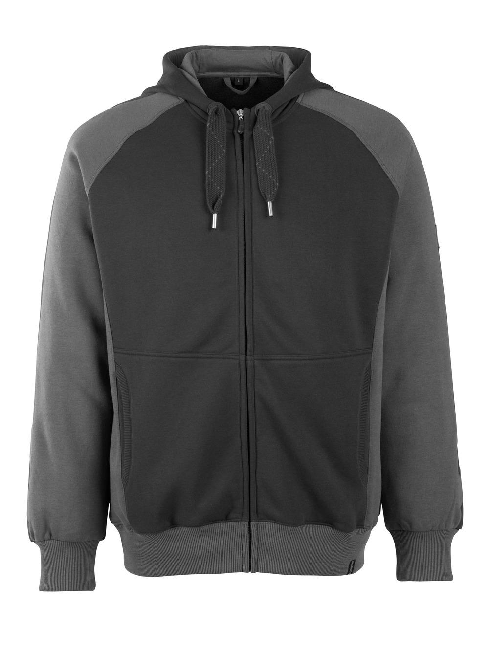 50566-963-0918 Hoodie with zipper - black/dark anthracite