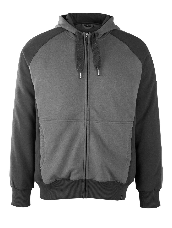 50566-963-1809 Hoodie with zipper - dark anthracite/black