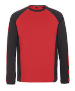 50568-959-0209 T-shirt, long-sleeved - red/black