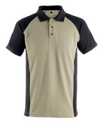 50569-961-5509 Polo Shirt - light khaki/black