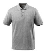 51586-968-08 Polo Shirt with chest pocket - grey-flecked