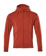 51590-970-02 Hoodie with zipper - red