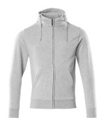 51590-970-08 Hoodie with zipper - grey-flecked