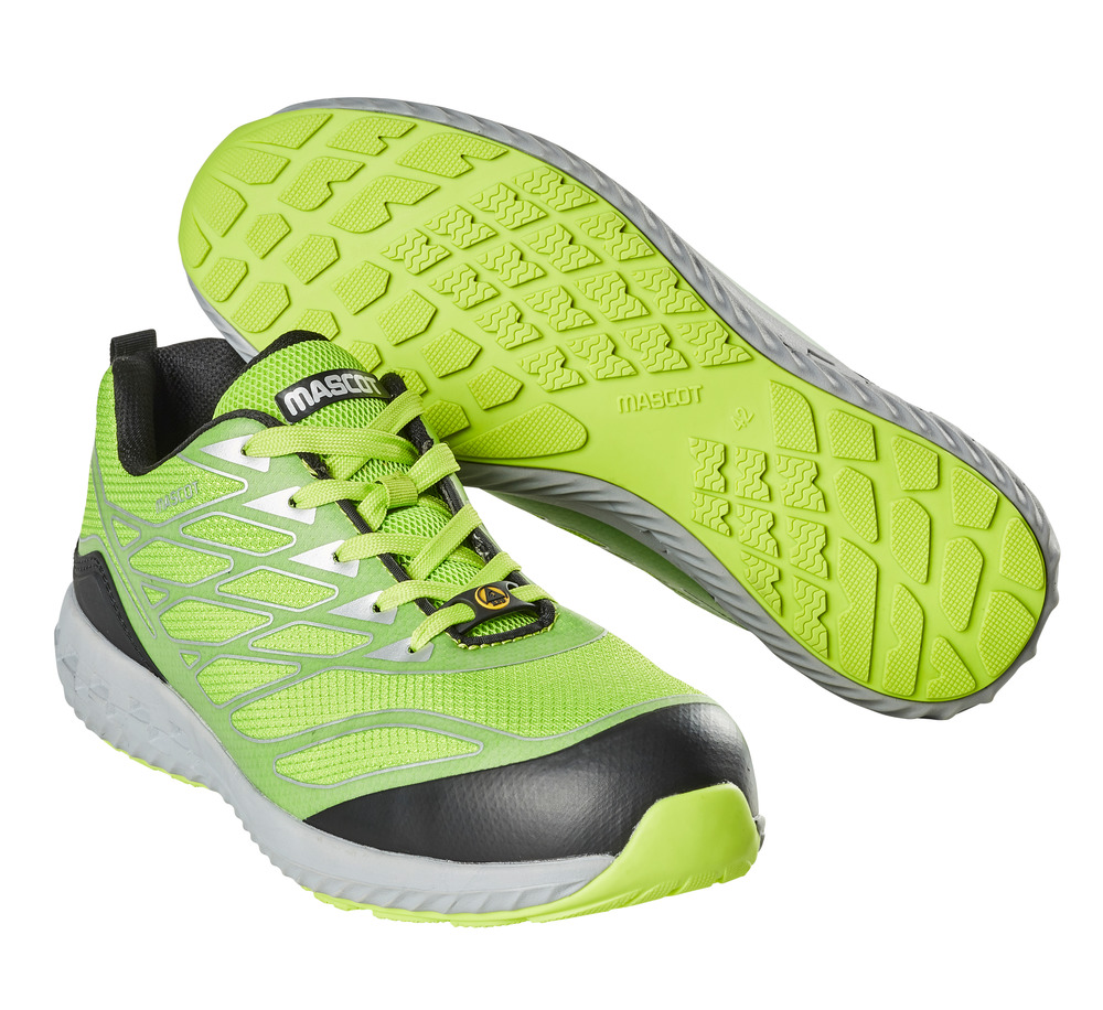 F0301-909-37880 Safety Shoe - lime green/silver